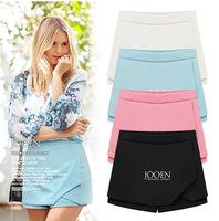 2PCS /LOT fashion thin irregularly folded chiffon WOMEN shorts FREE SHIPPING
