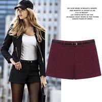 2pcs/lot unique woolen shorts bottoming autumn and winter  pants women shorts
