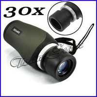 Free Shipping Mini Field 115m / 1000m 30 x 60mm Blue Multi-Coated Military Monocular Telescope
