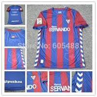 Thailand quality Eibar 2014 15 home red blue La Liga Men soccer jerseys Football Futbol Kit Just shirt