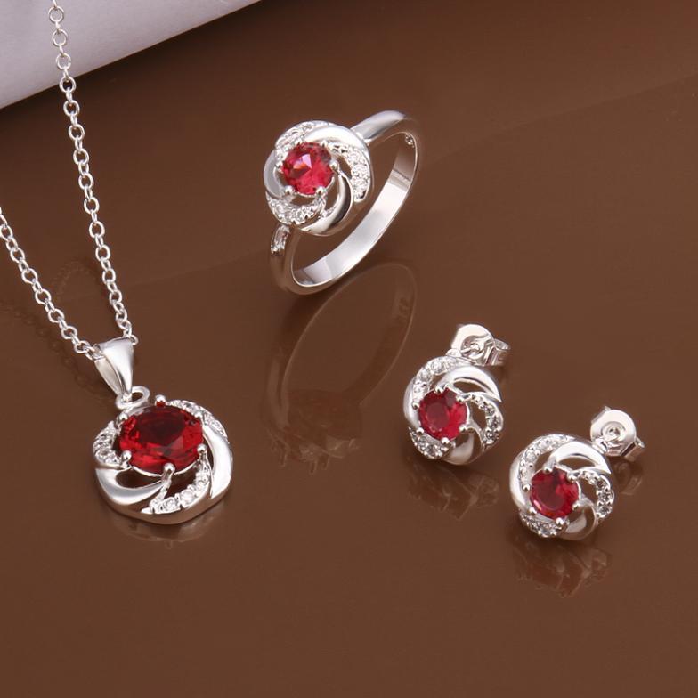 S0572 925 серебро ювелирные изделия комплект, Ювелирные изделия комплект три частей ювелирные изделия комплект