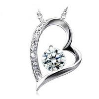 Wholesale (15 Pcs/Lot) Pendant Necklace 925 Silver Necklaces heart necklace Free Shipping