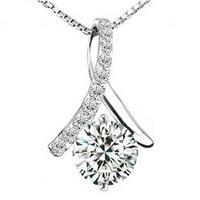 Wholesale (12 Pcs/Lot) Korean Style Pendant Necklaces 925 Silver Necklaces Free Shipping