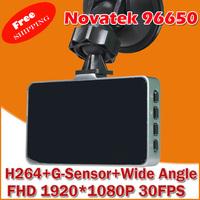 2014 New Novatek 96650 G30 Car DVR with 1080P 3.0 inch Screen + HDMI + G-Sensor + Night Vision + 170 Degree Angle Lens