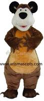 100% real pictures masha bear mascot costume cartoon costumes adult halloween dress party costumes EVA foam