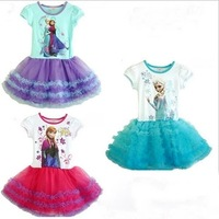 Retail+New 2015 Hot Sale Children girl party dress,Elsa Lovely TUTU dress,fashion summer Baby & kids one pieces,Baby wear