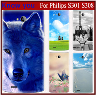 The Exclusive Design Cartoon Comic Print hard protector back cover phone case for philips308 Fits philip s308 S301 phone