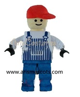 100% real pictures Lego mascot costume cartoon costumes adult halloween dress party costumes EVA foam