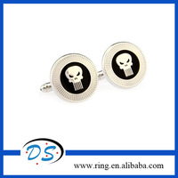 Classic Film Spiderman Men Cufflinks Round Punisher Skull Head Skeleton Cufflink Spawn Pattern Button Free Shipping