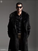 2013 male long design eco-friendly faux overcoat thick autumn and winter fur coat
