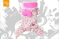 Christmas Dog Clothing!Strawberry Dot Four-Legs Coat Winter Pet Dog Clothes Cotton Coat Free Shipping