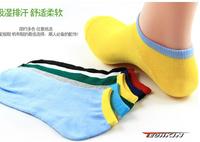 (short color boat socks) 30711 TECHKIN cycling Socks sport men socks wet socks / candy color edge Korean shallow mou