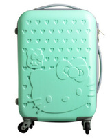 colorful hottest sale hard shell abs pc spinner rolling trolley luggage suitcase