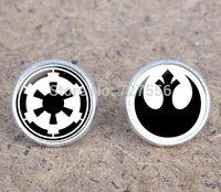Handmade star wars rebel alliance galactic republic logo earrings star wars post earring rebel Stud earrings 1 lot=10pcs=5pairs