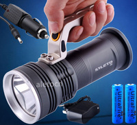 3000 LM CREE XM-L T6 Rechargeable Handheld LED Flashlight 2x18650+Car Charger