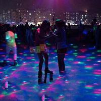 Rotate Color Mini Laser LED Stage Light Crystal Magic Ball Lamp KTV Disco Flash
