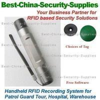 RFID Patrol Guard Tour Record System w Software 5 Yr Warranty +10 Black Mini Tag