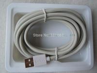 3M/9.8FT White F8j023bt3M  Data Sync Charger USB 2.0 Cable For iPhone 5 /5c ipad mini 50pcs/lot