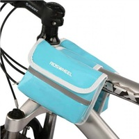 Hot! Roswheel Bikes Double Saddle Bag / Cycling Bicycle Tube Bag / Front Bicycle Tube Bag Blue Free shipping