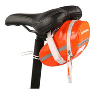 New  !!!RoswheelNEW PU Bicycle Bike Cycling Saddle Outdoor Pouch Back Seat Bag Basket,Racing Small Saddle Bag  Orange