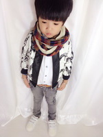 wholesale (5pcs/lot)-Children's clothing Y928  boy leather leisure jacket