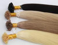 16inch-30inch 100g/pack Pre Bonded Italian keratin Nail U Tip Hair Extensions 100%  Double Drawn European Remy Human Hair