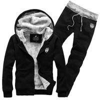 Winter 2014 thick velvet cardigan sweater coat Korean men's casual men's track suit
