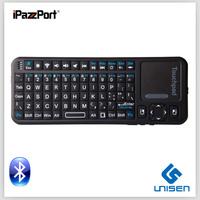 Free Shipping wholesale mini bluetooth keyboard iPazzPort mini wireless bluetooth silicone keyboard smart TV keyboard