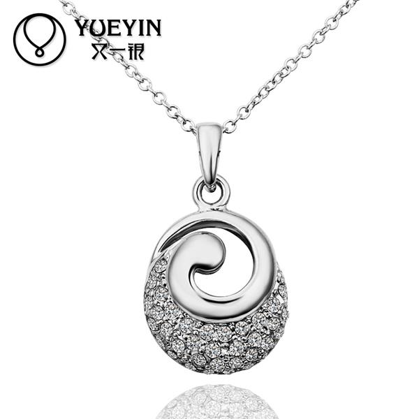 N611 Wholesale! necklace pendants for women 18K Real Gold Plated Women Fashion Imitation Jewellery, Free Shipping,(China (Mainland))