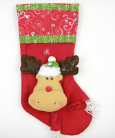 GAGA!Free shipping shipping beautiful and fashionable paillette adornment cartoon santa deer christmas stocking,24pcs/lot,YS2-7