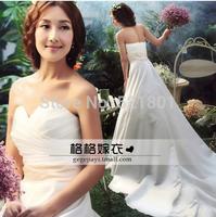 Korean bride wedding dress trailing wedding Bra a line wedding dress Slim models vestido de noiva bridal gown 410