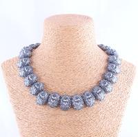 Wholesale New 2014 Za fashion crystal Antique metal choker collar necklace & pendant statement necklace 2014 women
