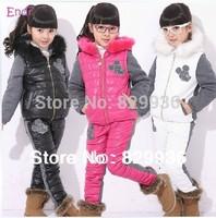 New 2014 Winter Girls Clothing Sets, Ski Suit Set, Sport Suit, Girls Tracksuit set, Children Girl Winter Suit