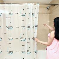 Home supplies baihuo yiwu daily necessities thickening pe film waterproof print shower curtain