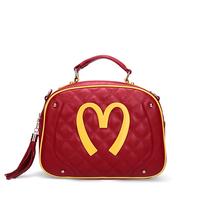 New Designer Moschina M Letter Handbag Genuine Leather Woman Bags