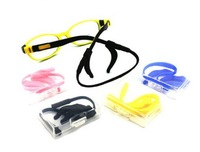 free shipping silicone eyeglasses chain,child chian set ,eyeglasse temple  .self packing 5 set good quality