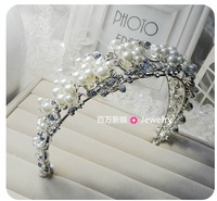 Atmospheric Fan bendable soft bride crown headdress hair accessories jewelry free shipping