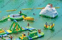 cheap inflatable water park slides free air pump KKWP-L007