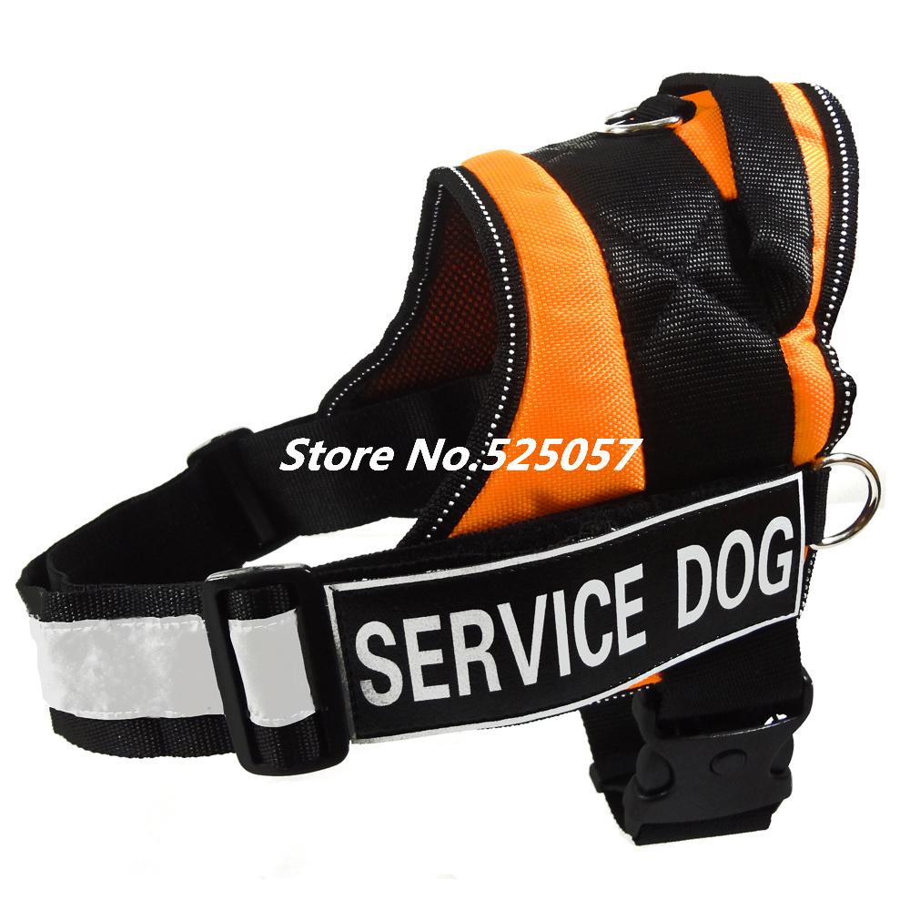 free shipping Service dog  Professional orange Training Dog Harness  Nylon pet vest reflective Vest husky(China (Mainland))