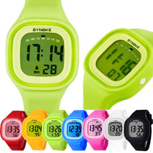 New 1PC Silicone LED Light Digital Sport Wrist Watch Kid Women Girl Men Boy Tonsee
