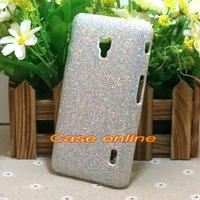 1 Pcs Fashion Bling Silver Mosaics Hard Back Case Cover For LG Optimus F6 D500 D505