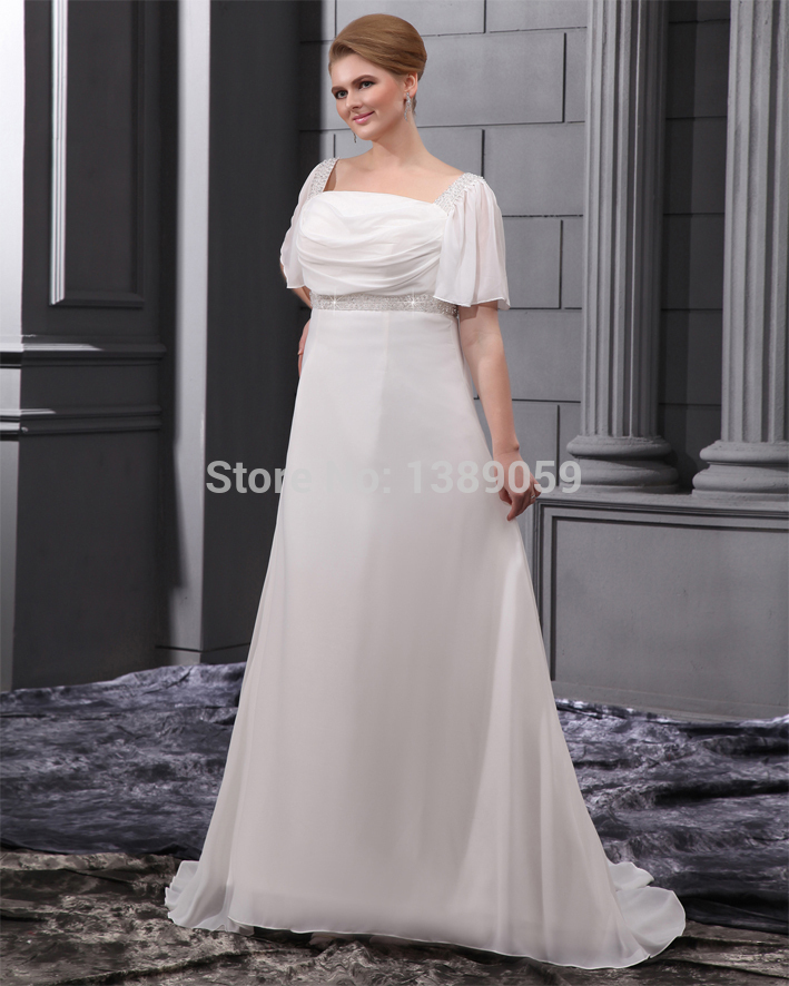 Ivory Wedding Dresses With Sleeves Plus Size Plus Size Wedding Dress