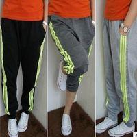 HA-08 2014 Hip hop  Spring Autumn Woman Stripe Sport Pants Casual Yoga sweatpants women Sweat pants Women's sports pants