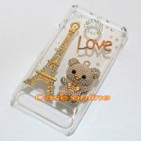 1 Pcs Handmade Bling Bear Love Eiffel Tower Butterfly Patterns Clear  Back Case For Sony Xperia E1 D2004 D2005 D2104 D2105 D2114