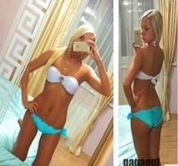 new 2014 bikinis set swimwear swimsuit vintage push up bikini brand bikinis monokini retro 4 colors wholesale Free shipping