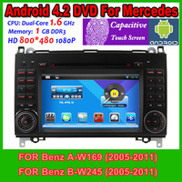 Pure Android 4.2 OS Car  PC Video DVD For Mercedes Benz A-W169 B-W245 WIth GPS WIFI Radio Factory Promotion Free Shipping