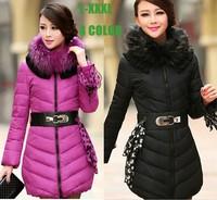 2014 Winter Elegant and Luxury Fur Neck Thicken Women Long Winter Coats  TSP1658