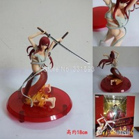 """Anime Cartoon Fairy Tail Elza Scarlet PVC Sexy Action Figures Collectible Models Toys 7"""" 18CM Free Shipping"""