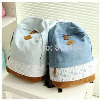 Cute Girls Women's Vintage Denim Satchel Backpack Rucksack Shoulder School Bag
