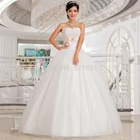 Wedding dresses 2014 new Korean heart-shaped lace wedding dress Bra vestido de noiva casamento fashionable bridal gown 413